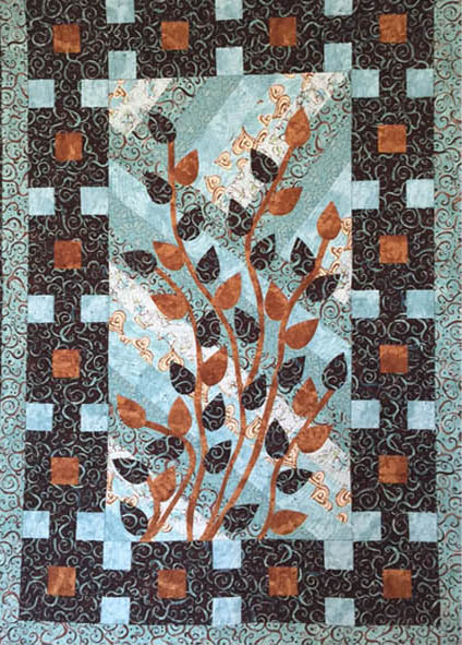 Quilt by West Alabama Quilters Guild for More Quilting, Carving, and Printing Too! exhibition for Wellness Walls For Art