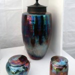 Daniel Livingston's raku pottery at Kentuck.