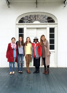 Dr. Rachel Stephens' ARH 477 class at Bluff Hall in Demopolis, Alabama. The students toured several structures around Hale, Perry and Marengo counties in the Black Belt as part of their studies.