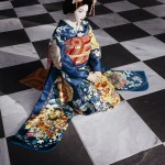Laurie Simmons, The Love Doll/Day 32 (Blue Geisha, Black & White Room), 2011, pigment print 70 x 47 inches. Image courtesy the artist and Salon 94, New York.