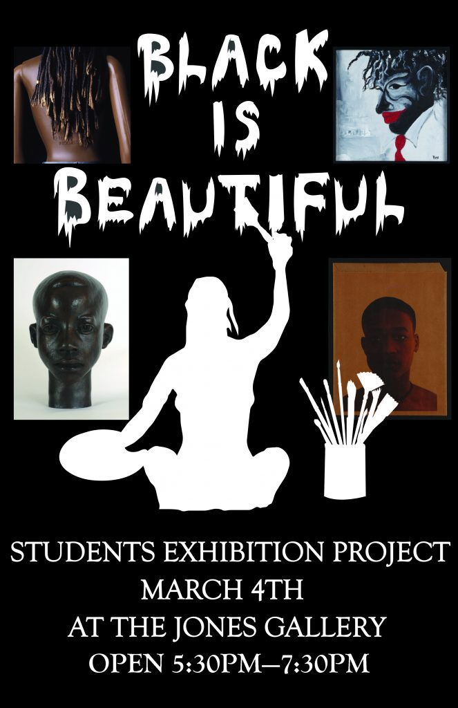 """Black is Beautiful,"" March 4--April 29, 2016, at the Paul R. Jones Gallery of Art"