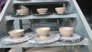 UA ceramic students are making 100 bowls to donate to UPC's Empty Bowls event this year!