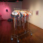 Installation view, 2016 UA Faculty Biennial, work by Adrienne Callander in foreground.