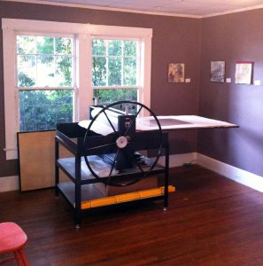 PWL member John DeMotte's Ettan etching press.