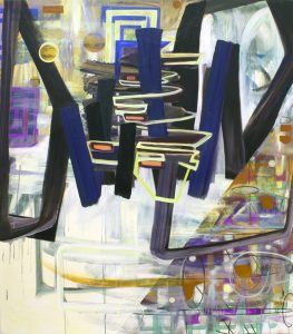 "Pinkney Herbert, ""bridge 1,"" 2013, oil, digital print on canvas, 78 x 68 inches."