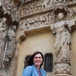 Jennifer Feltman at Reims Cathedral, Last Judgment Portal, north transept façade, ca. 1226-40 with later restorations.