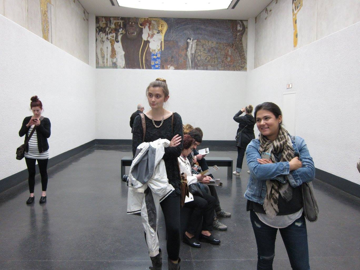 Sarah Johns and Megan Goldman in the Secession Building, Vienna.