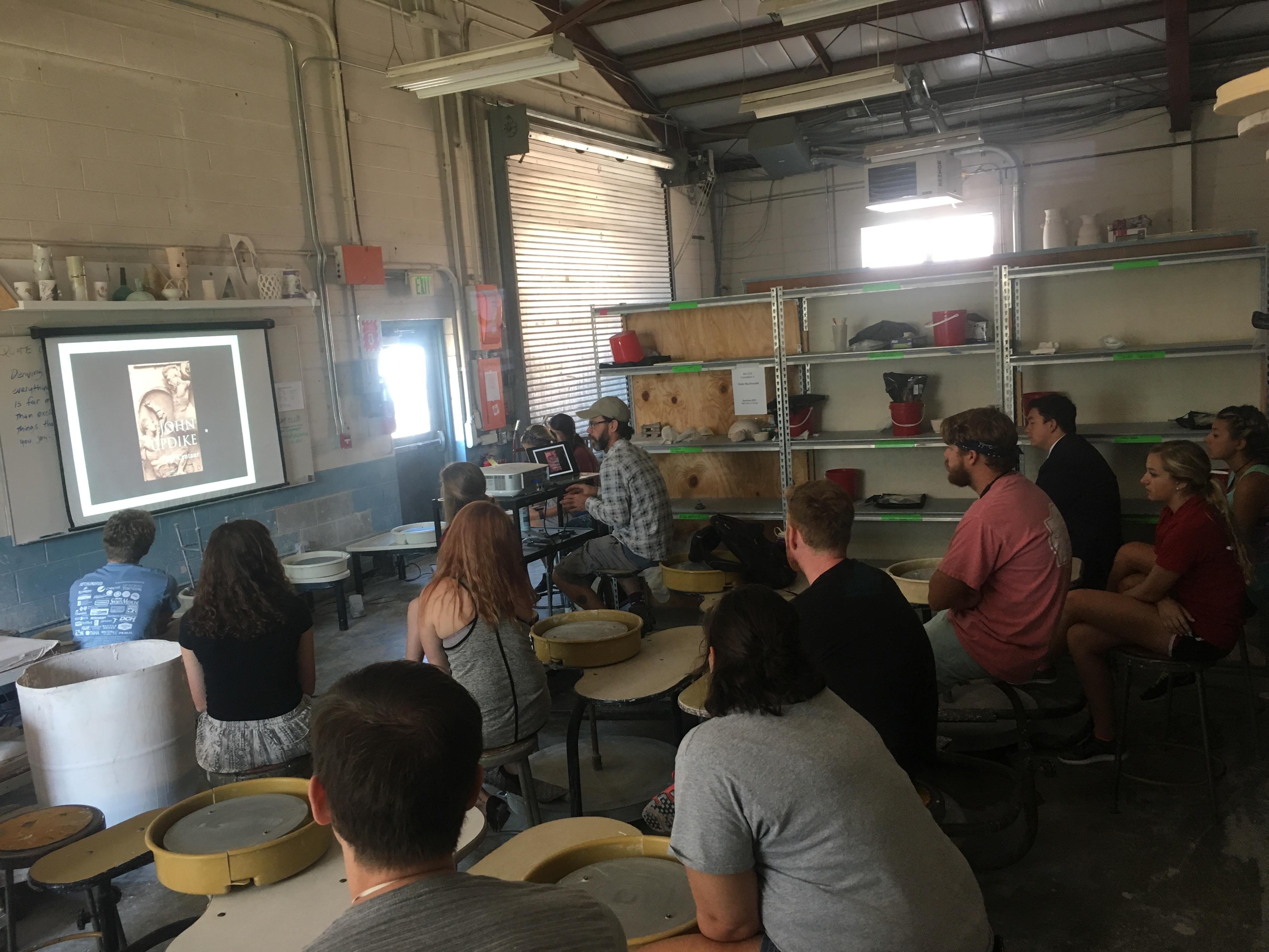 Visiting artist Dennis Ritter lectures in ceramics in September.