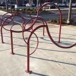 Bike Racks at 4th and 23rd designed by Alli Sloan