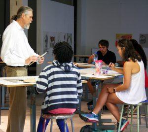 Bill Dooley teaching for the CrossingPoints Summer Bridge Program, summer 2016