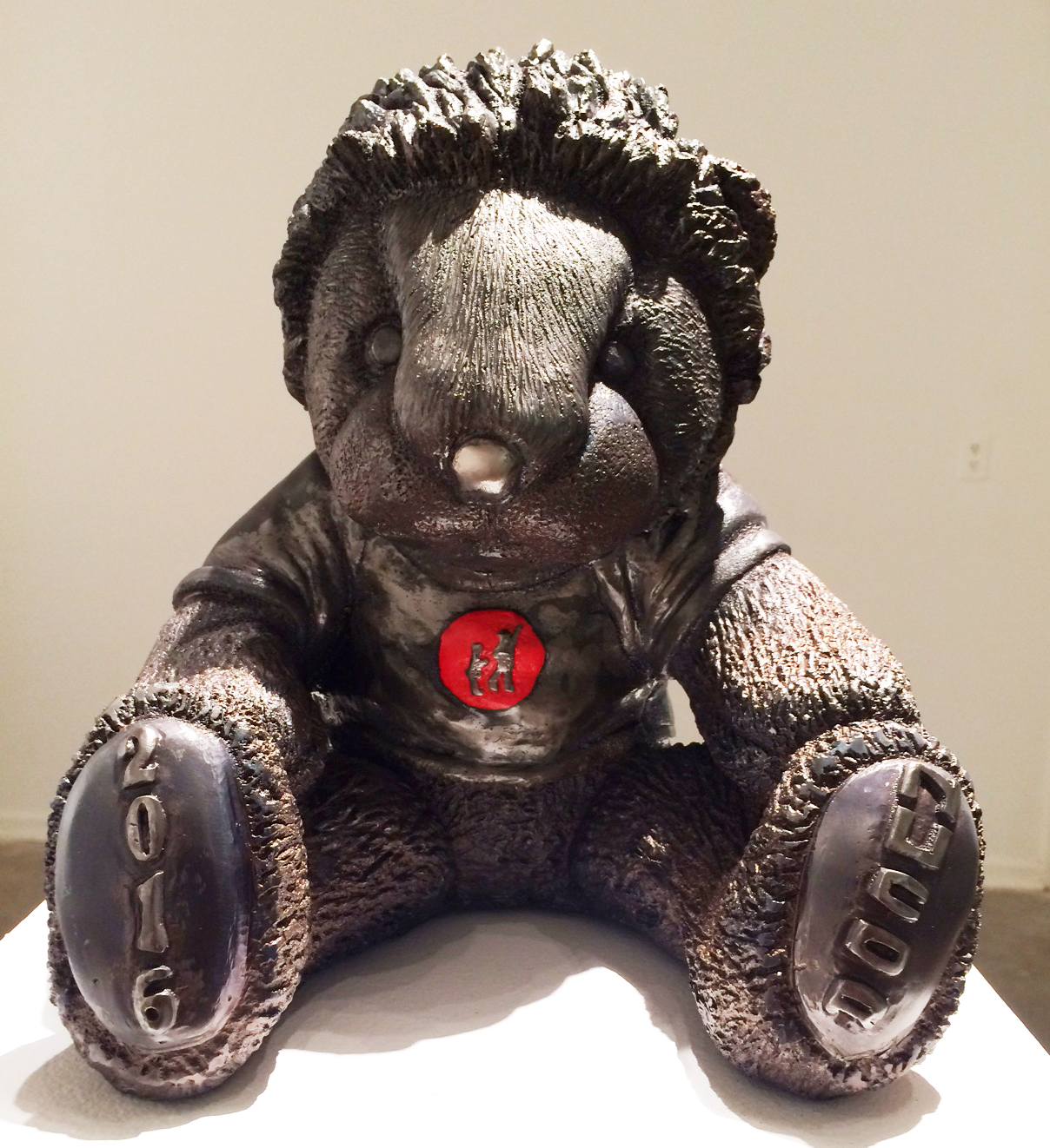 """""""Simon the Lion"""" in steel, sculpted by Craig Wedderspoon for Nucor Charity Auction 2016."""