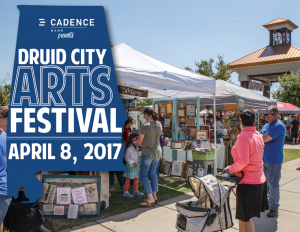 Druid City Arts Festival (DCAF) April 8, 2017