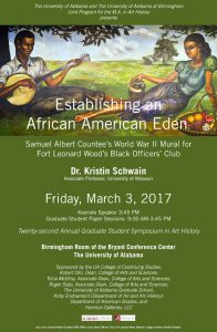 Poster for the 22nd Annual Graduate Student Symposium in Art History, 2017