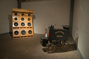 "Cosmo Whyte, installation view (""The Well Traveled African""), 2015"