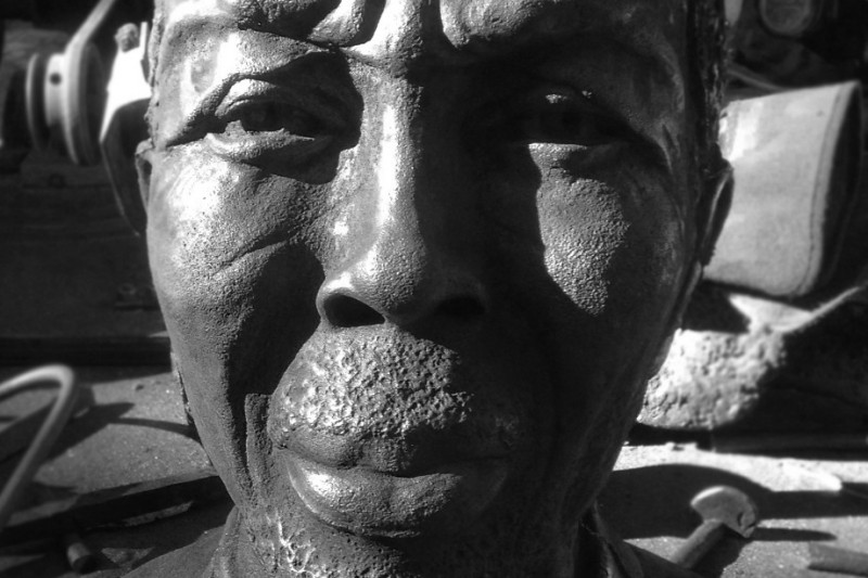 April Livingston, bust of Cudjoe Lewis