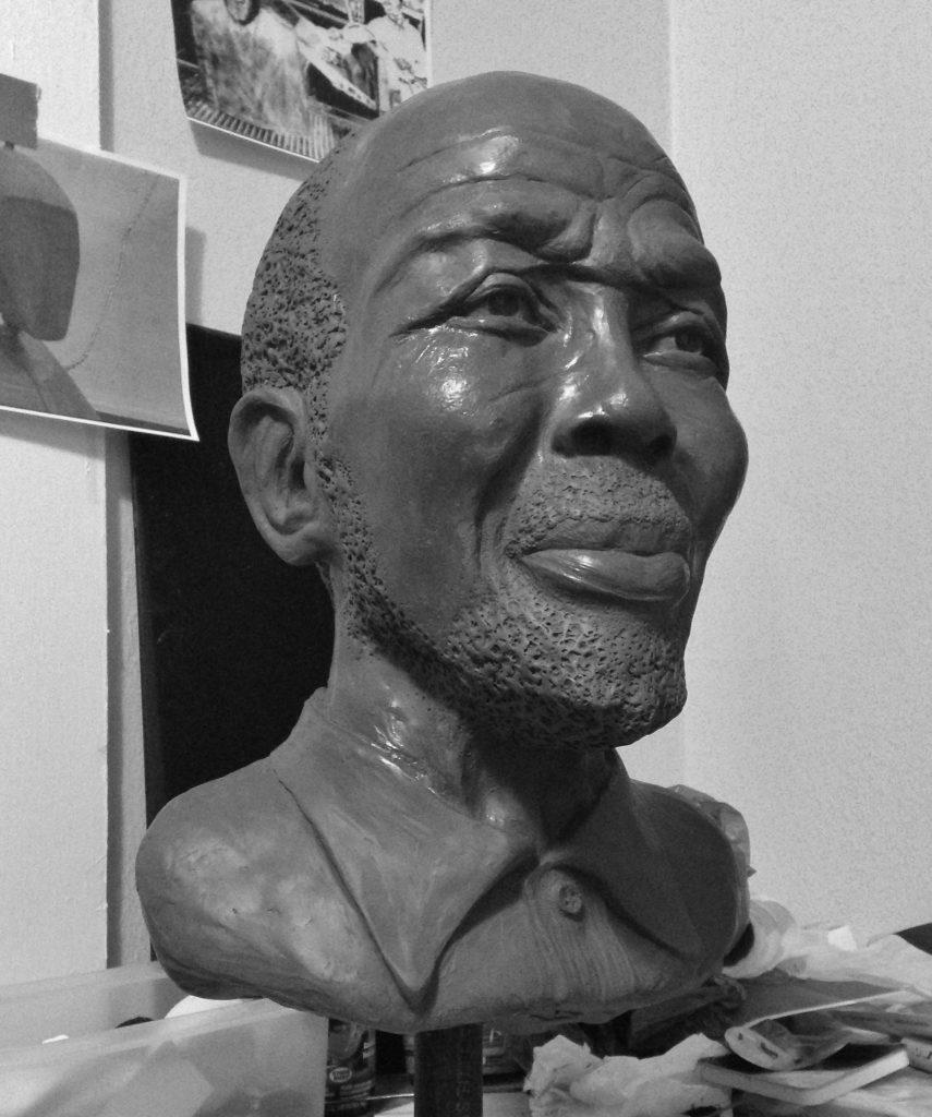 Clay model of Cudjoe Lewis by April Livingston