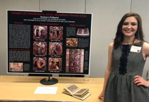 Sommer Hallquist won 3rd place for her art history research poster