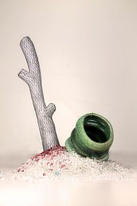 "Sculpture by Meg Howton, ""Waste"""