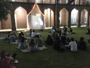 Screening on the Green on Woods Quad
