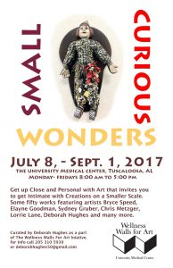 Poster for Small Curious Wonders exhibition