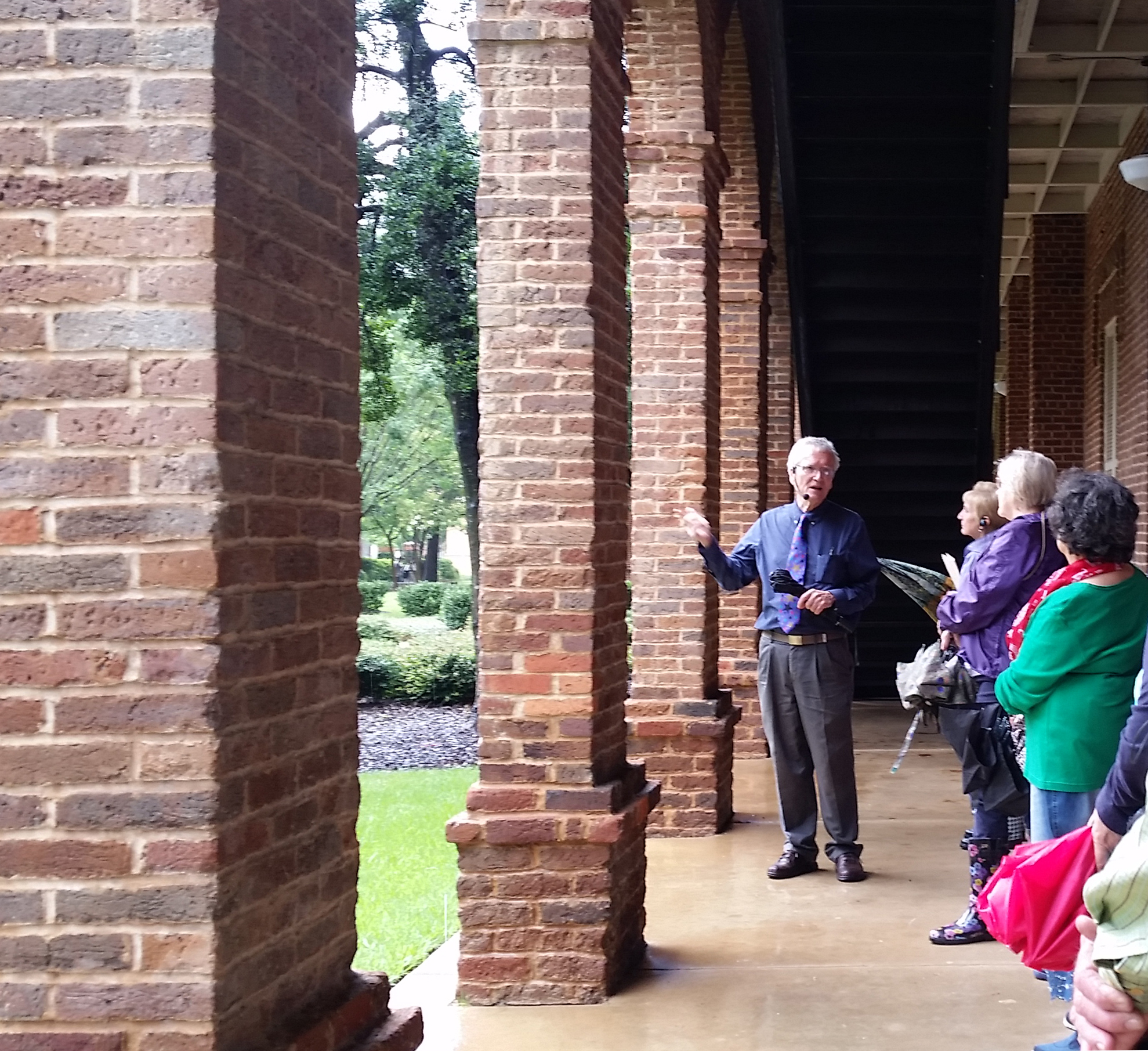 Dr. Mellown gives a tour of UA's historic architecture.