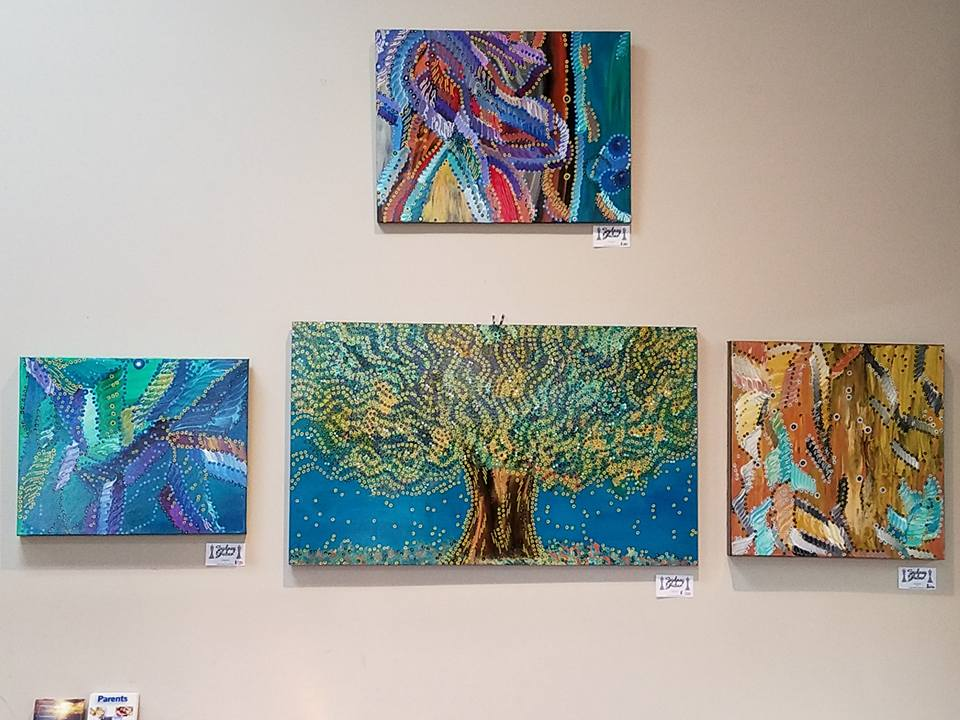 Paintings by Sydney Gruber, Tuscaloosa Juvenile Court Lobby, 2017