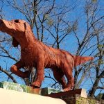 Big Red Dog at Kentuck Courtyard