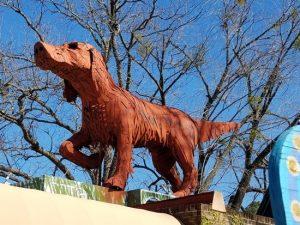 Big Red Dog at Kentuck Courtyard
