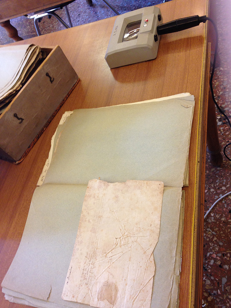 Correspondence from c. 1430 at the Archivio di Stato in Modena that Dr. Jones is studying.