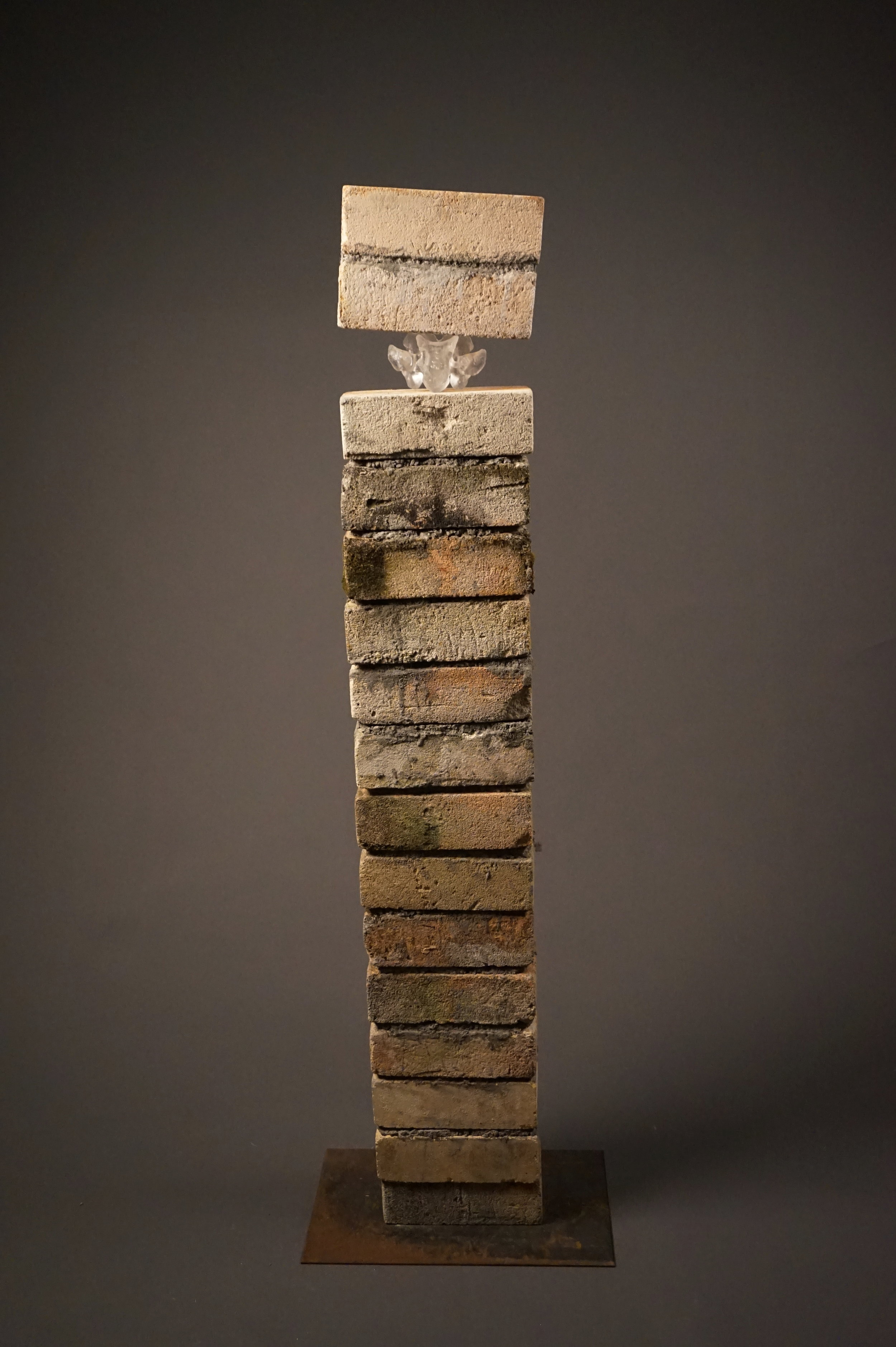 """Sculpture by Katie Adams titled, """"Weight."""""""