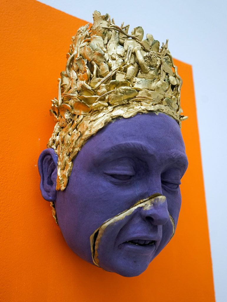 """ceramic sculpture by Amy Smoot titled """"Be Good."""""""