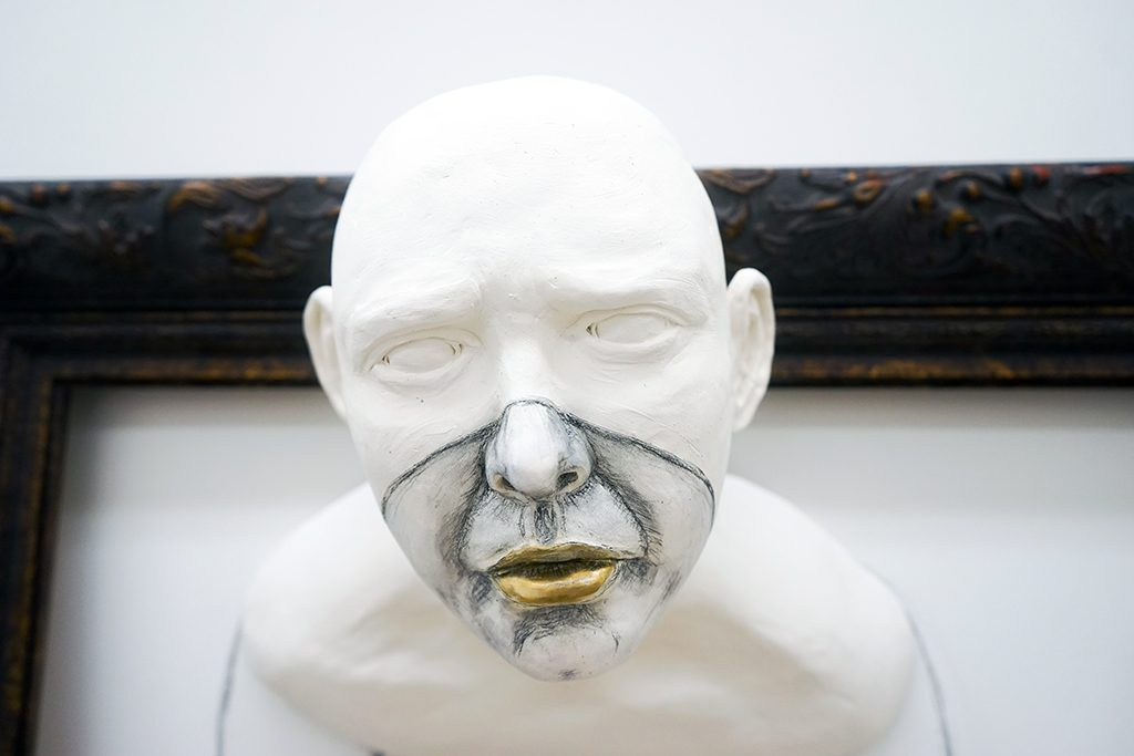 """ceramic sculpture by Amy Smoot titled """"Weight."""""""