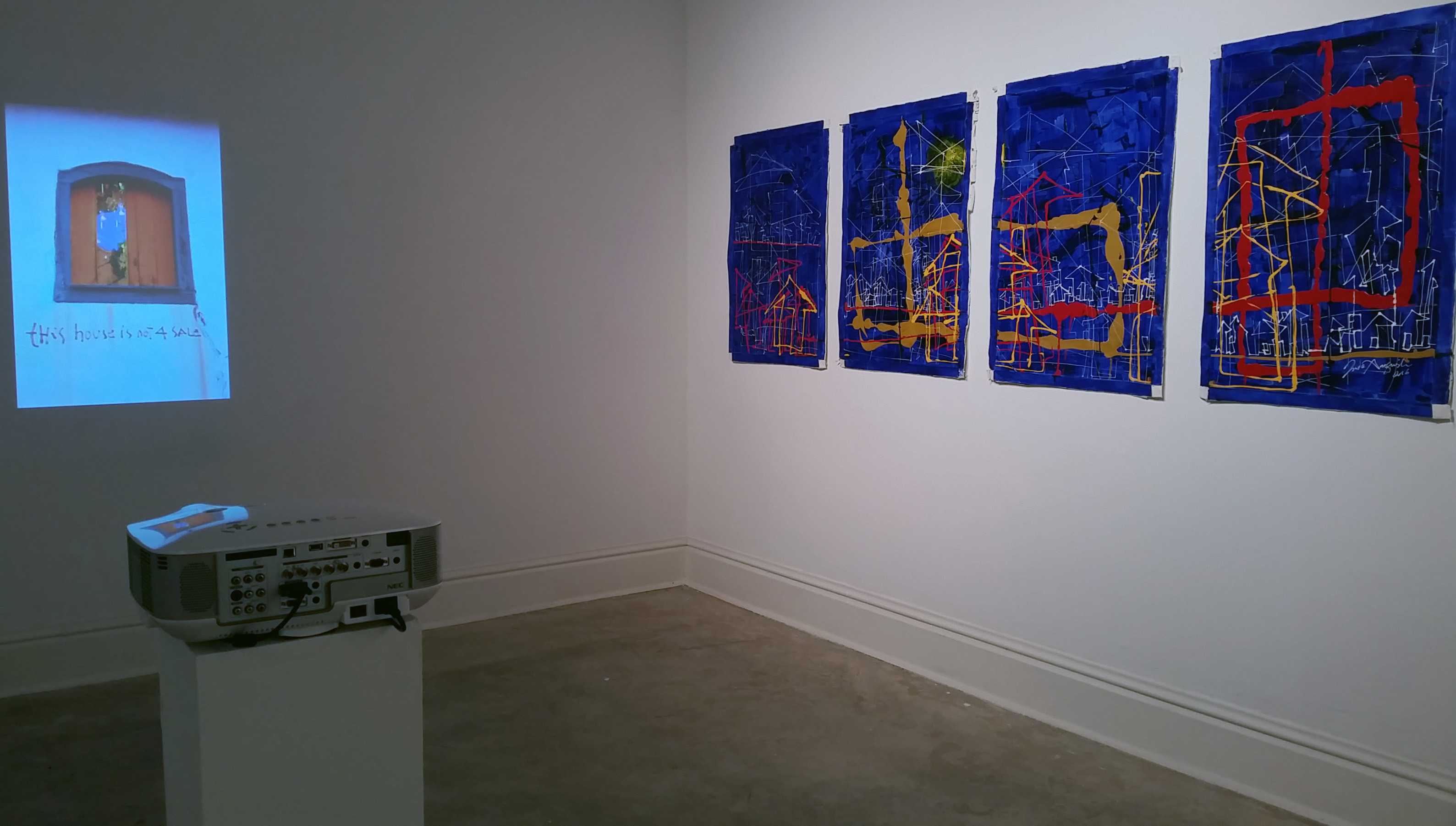 Two works by Jude Anogwih in the 2017 Graduate Student Show, Sella-Granata Art Gallery