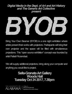 "Poster for ""Bring Your Own Beamer (BYOB)"""