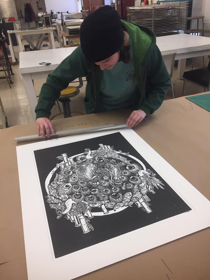 EclecticWay-Paul R Jones Collection and printmaking students' exhibit 2017