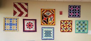 Hallie O'Kelley's quilts at the Juvenile Court Lobby