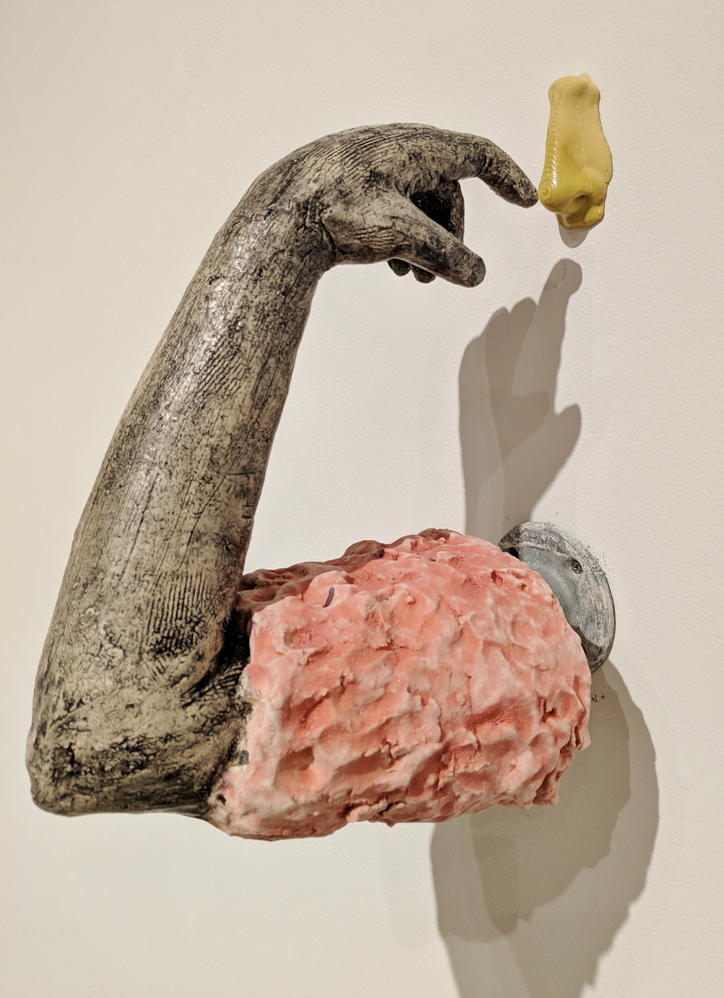 "Amy Smoot, ""Touch,"" ceramics, 14.5 x 6 x 12 inches, 2017"