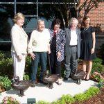 President Judy Bonner with artist Frank Fleming, Dean Milla Boschung, donor Mrs. Margaret E. Rhoads and CHES Director of Development Amy Baker-Parton