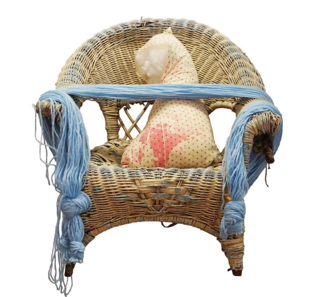 """Francesca Baldarelli, """"I always wanted a wicker chair,"""" 2018. Image courtesy of the artist."""