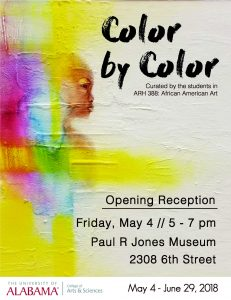 Color By Color Poster, Paul R. Jones Museum, May 2018