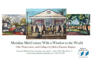 Poster for Meridian Mid Century With a Window to the World: Oils, Watercolors, and Collages by Helen Potasnic Shapiro