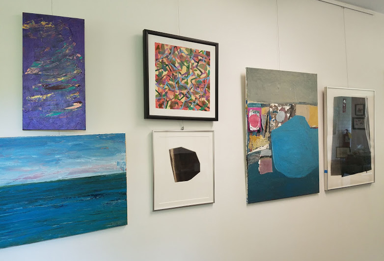 Installation view of Ann Betak Class Exhibit at Canterbury Chapel, July 2018