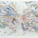 Image credit: Julie Mehretu, Entropia (review), 2004, lithograph and screenprint 29 x 40 inches. Excavations: the Prints of Julie Mehretu is organized by Highpoint Editions, Minneapolis.