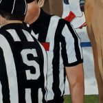 Tom Wegryznowski, Refs, 2017, oil on canvas, 24 x 48 inches