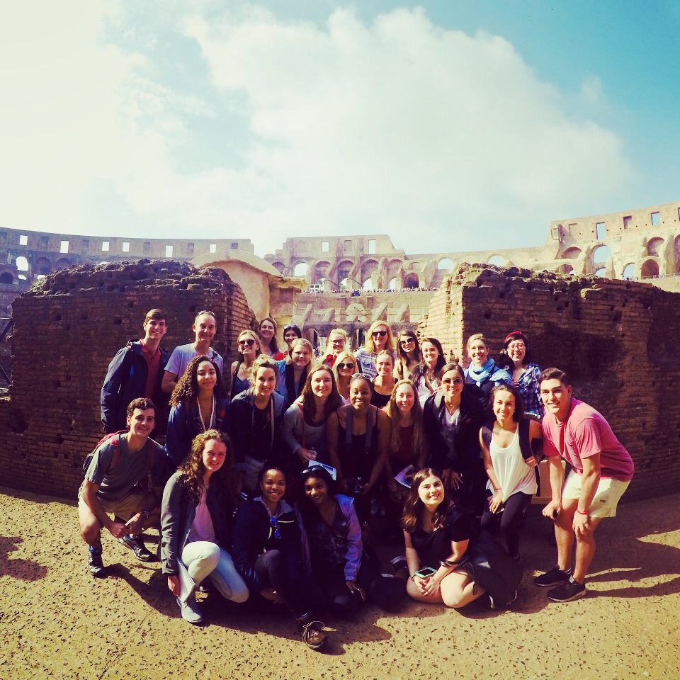 group of students at the Colosseum in Rome