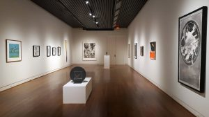 "Installation view, ""Com-bine – Selections from the Permanent Collection,"" AUG 23-SEP 28, Sarah Moody Gallery of Art, UA"