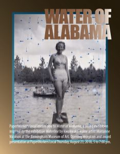 Water of Alabama Juried Exhibition at Paperworkers Local, image courtesy Karen Graffeo (UA MFA alumna)
