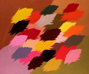 Edgar Heap of Birds, Neuf Painting for Autumn (2), 2014, Acrylic on Canvas, 36 x 44 inches