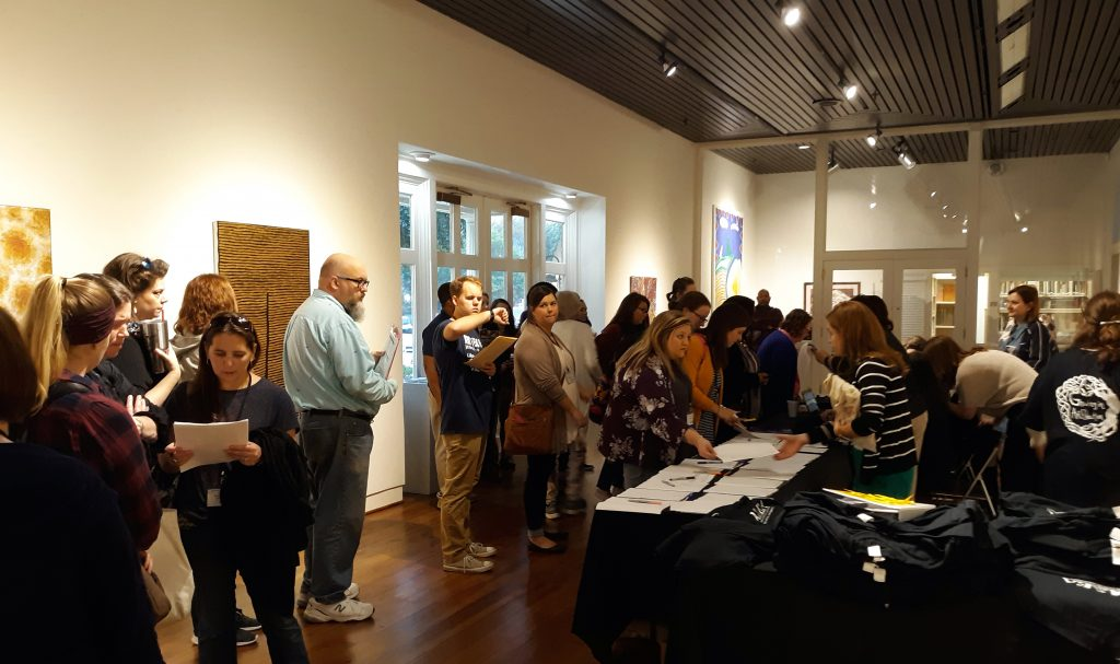 Welcome reception and registration in the Sarah Moody Gallery at AAEA 2018