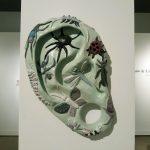 "Allie Gant, ""National Geographic (in green),"" 2018, ceramics/sculpture. Raw & Unfinished Business - Allie Gant & Jennifer Gault (BFA exhibitions), Sella-Granata Art Gallery, UA."